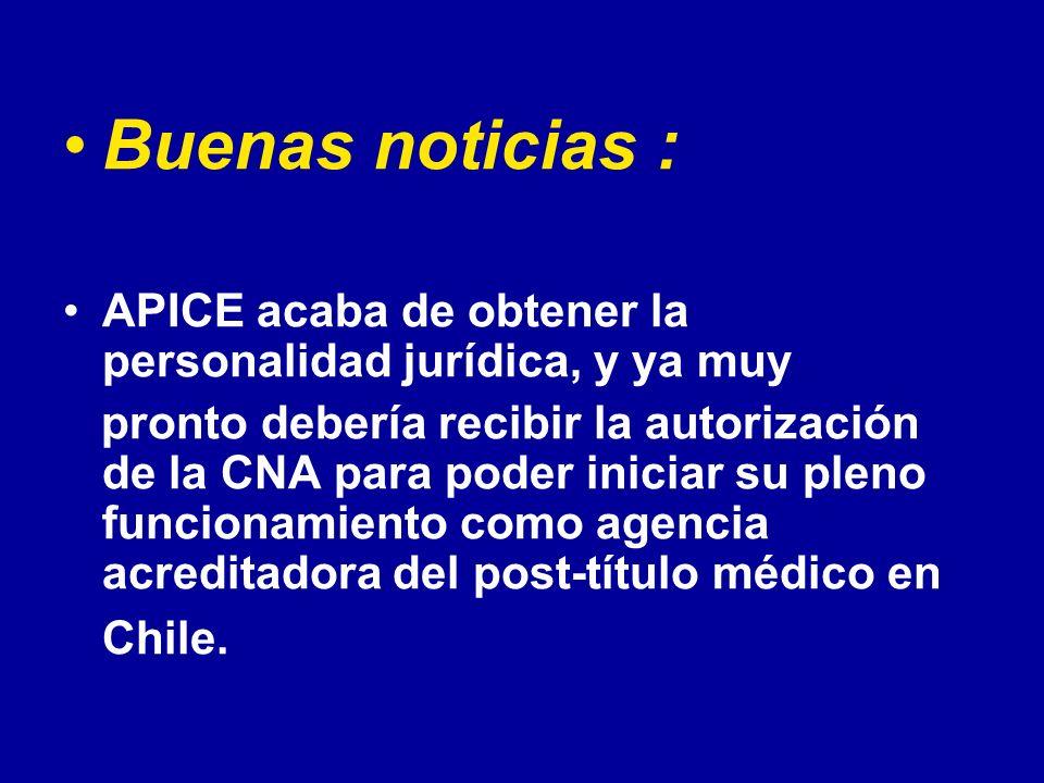 Buenas noticias : APICE acaba de obtener la personalidad jurídica, y ya muy.