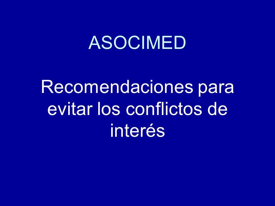 ASOCIMED Recomendaciones para evitar los conflictos de interés