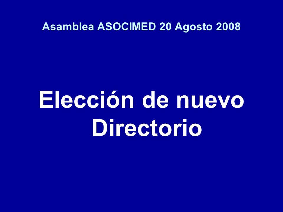 Asamblea ASOCIMED 20 Agosto 2008