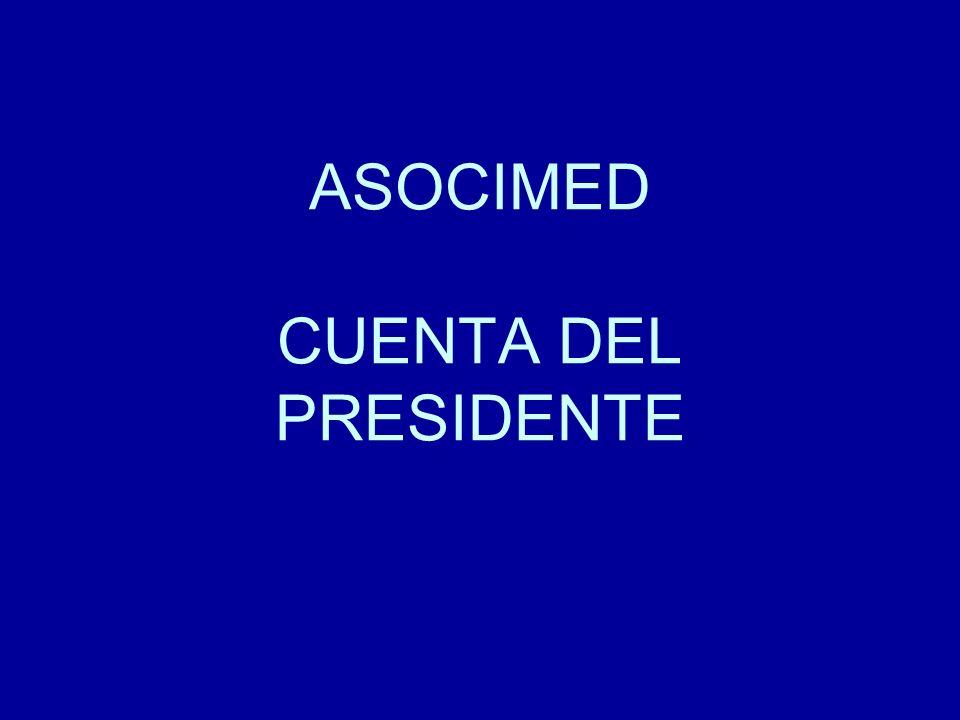 ASOCIMED CUENTA DEL PRESIDENTE