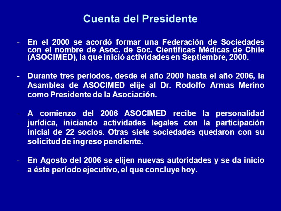 Cuenta del Presidente