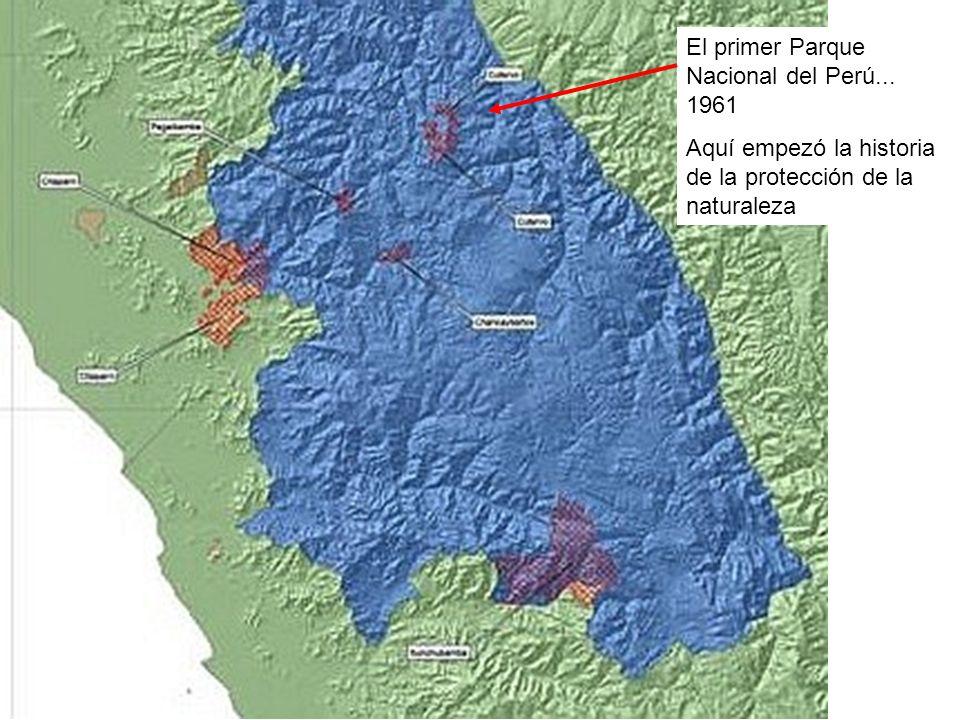 El primer Parque Nacional del Perú... 1961