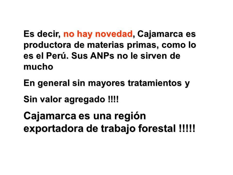 Cajamarca es una región exportadora de trabajo forestal !!!!!