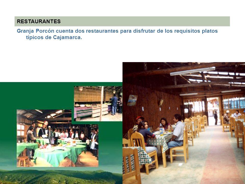 RESTAURANTES Granja Porcón cuenta dos restaurantes para disfrutar de los requisitos platos típicos de Cajamarca.