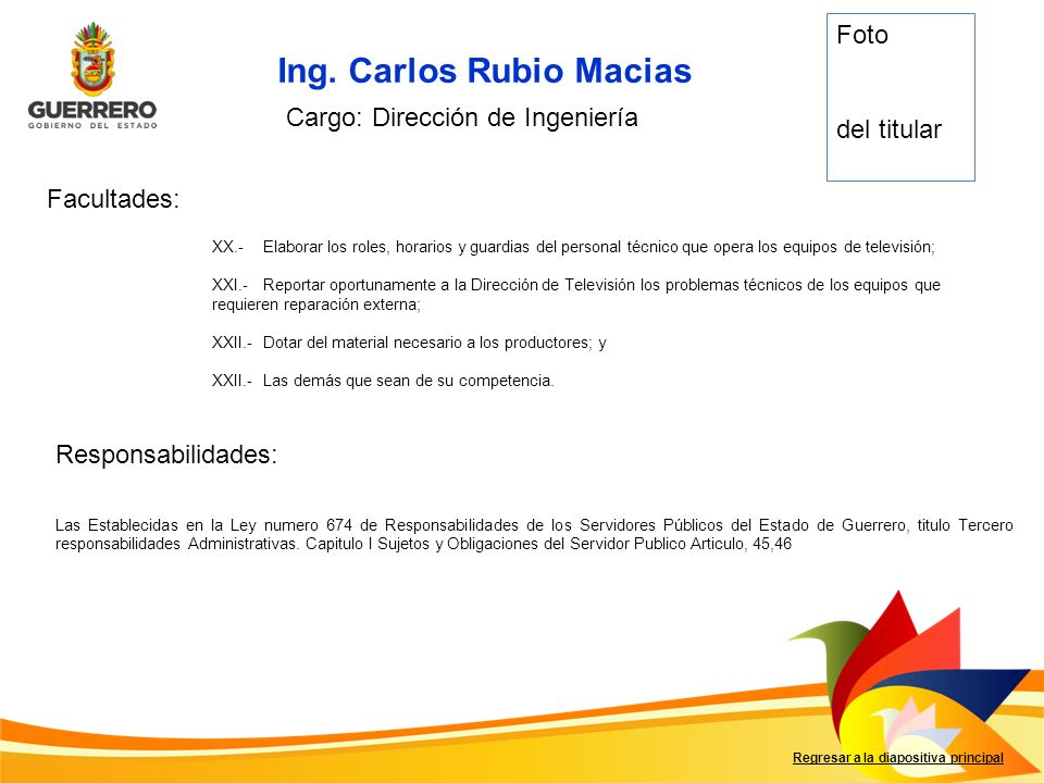 Ing. Carlos Rubio Macias
