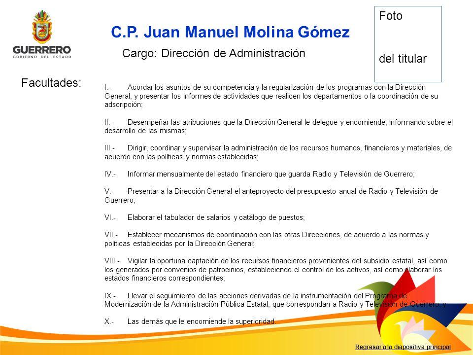 C.P. Juan Manuel Molina Gómez