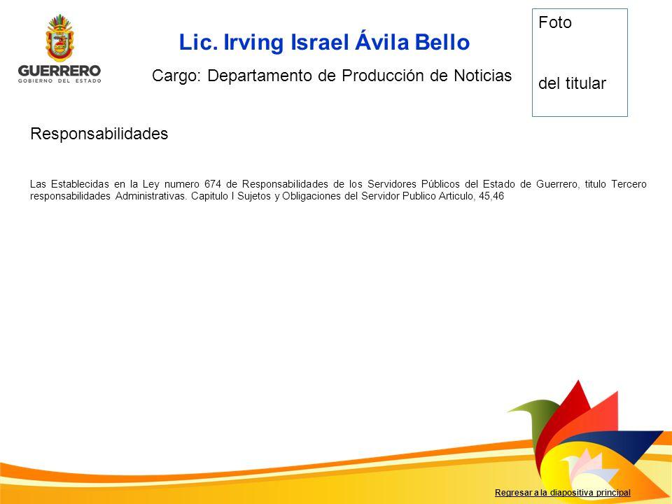 Lic. Irving Israel Ávila Bello