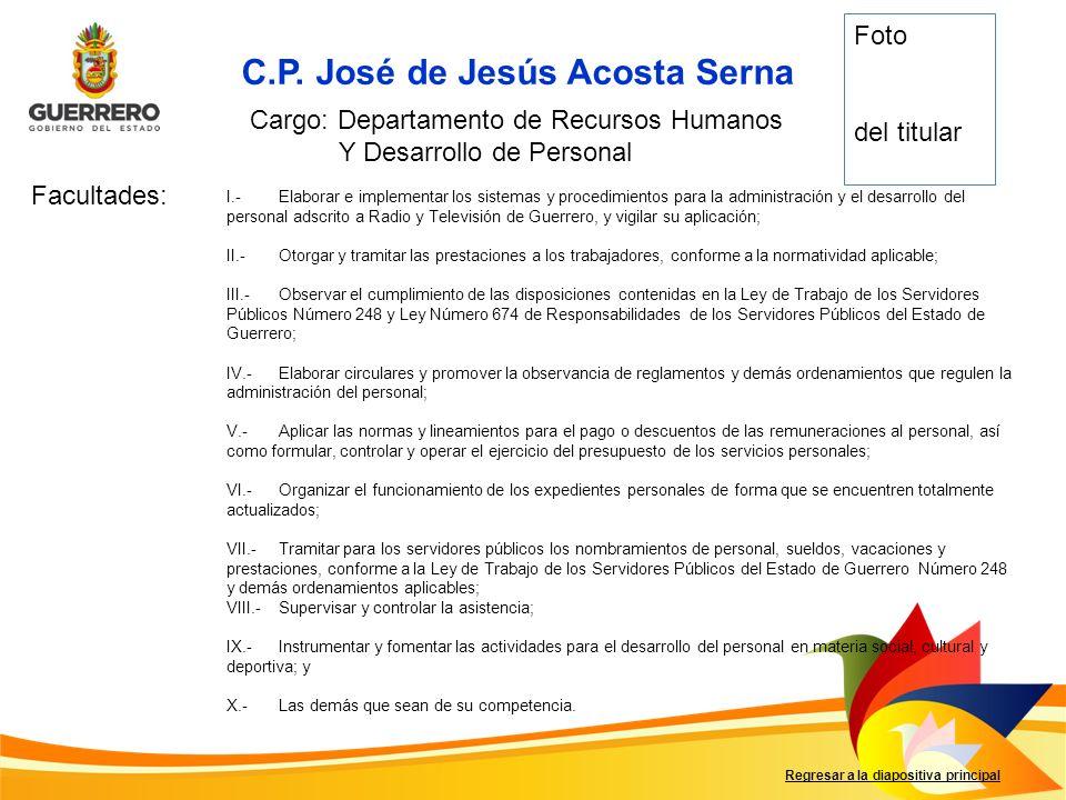 C.P. José de Jesús Acosta Serna