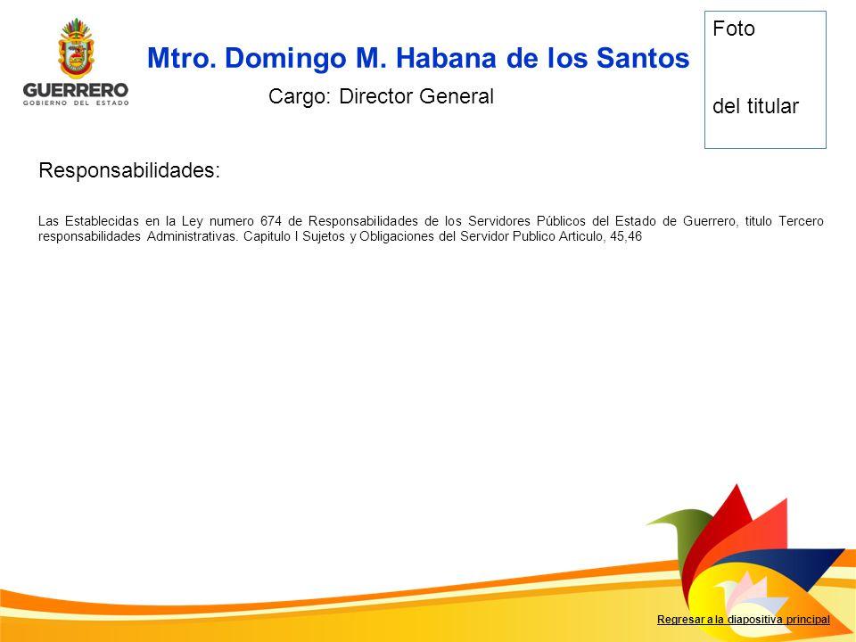 Mtro. Domingo M. Habana de los Santos