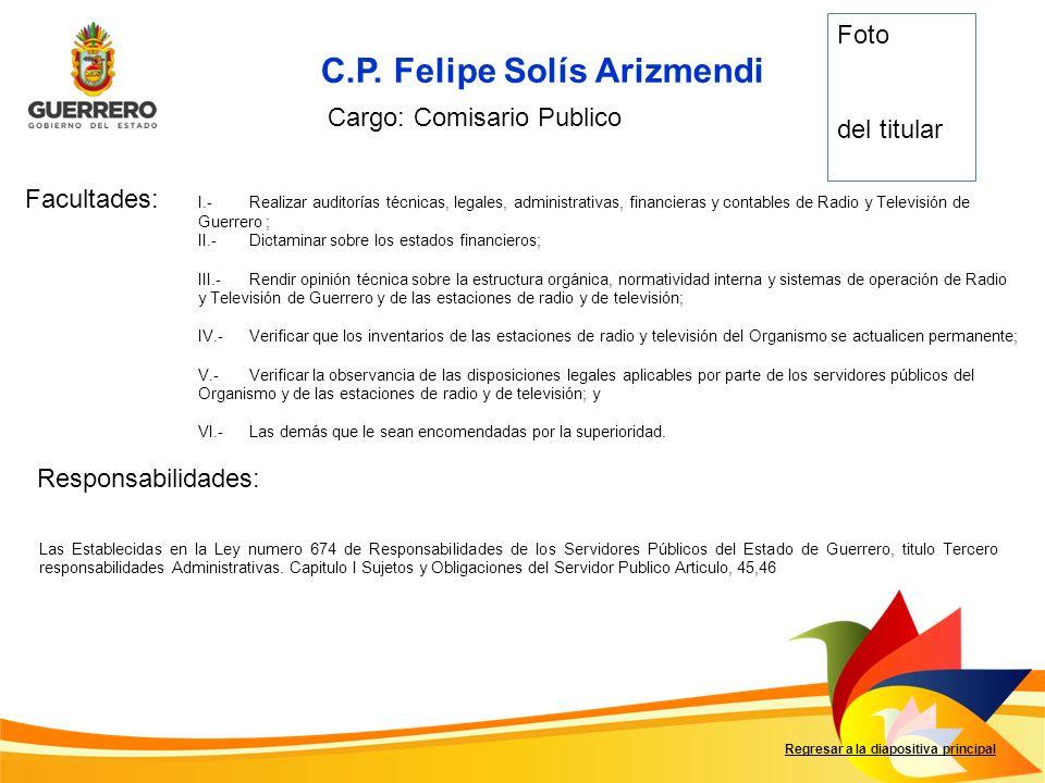 C.P. Felipe Solís Arizmendi