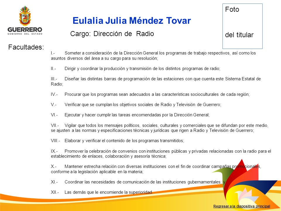 Cargo: Dirección de Radio