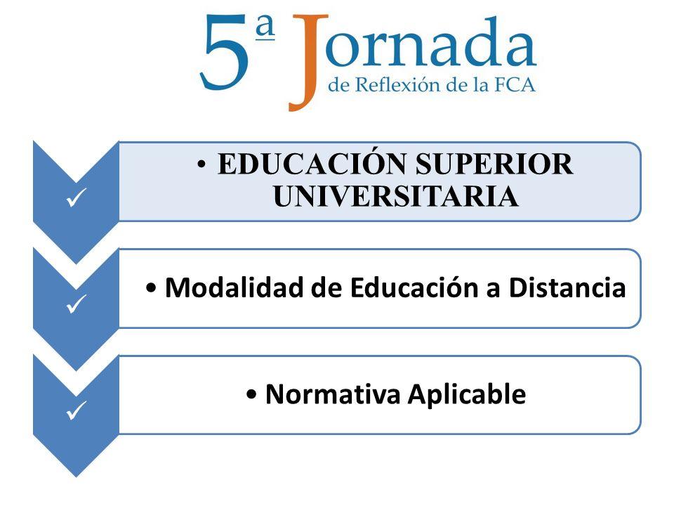 EDUCACIÓN SUPERIOR UNIVERSITARIA Modalidad de Educación a Distancia