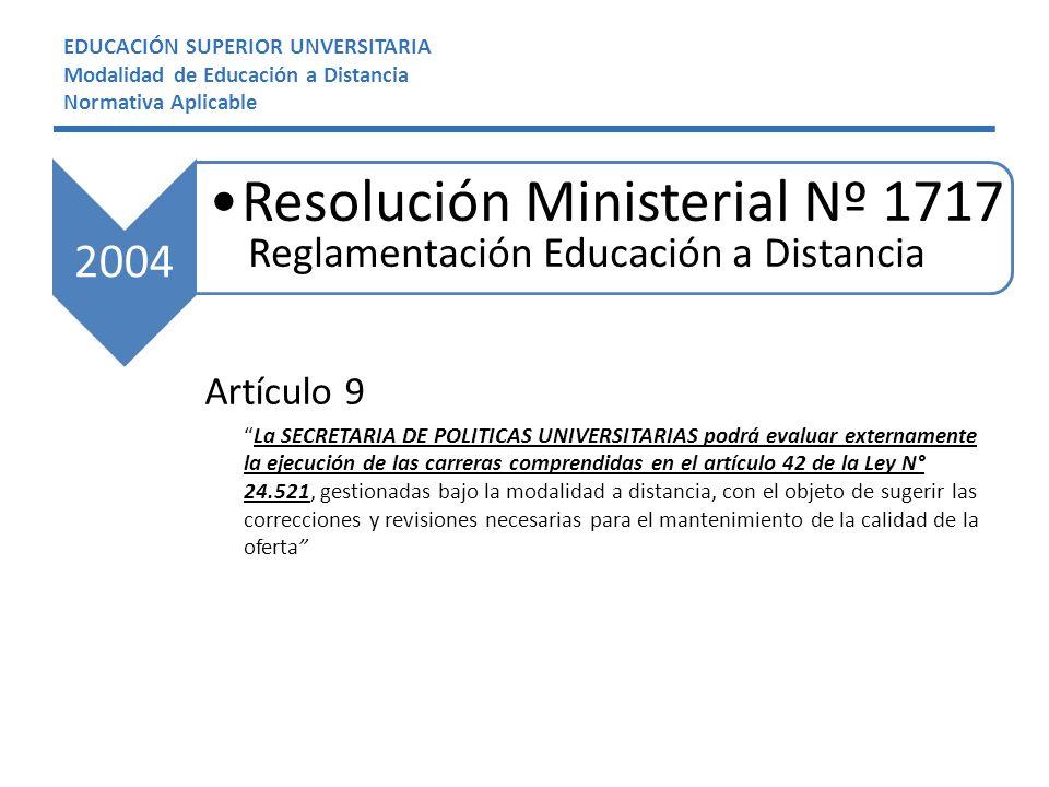 Resolución Ministerial Nº 1717