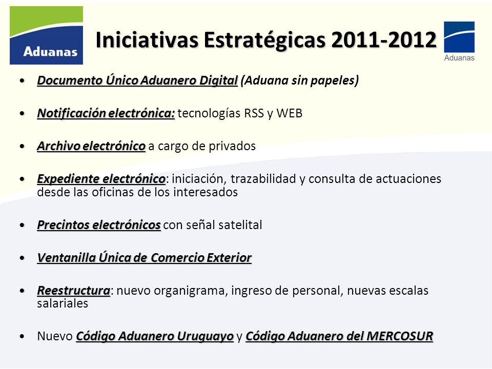 Iniciativas Estratégicas 2011-2012