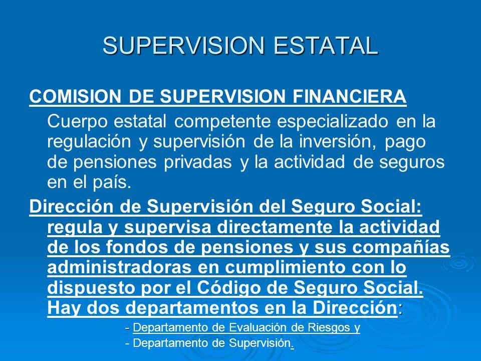 SUPERVISION ESTATAL COMISION DE SUPERVISION FINANCIERA