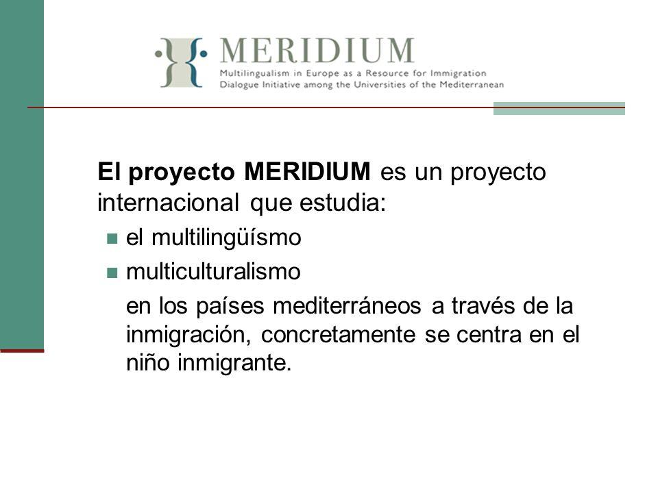 El proyecto MERIDIUM es un proyecto internacional que estudia: