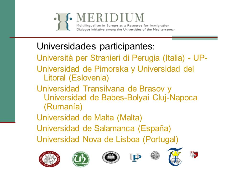Universidades participantes: