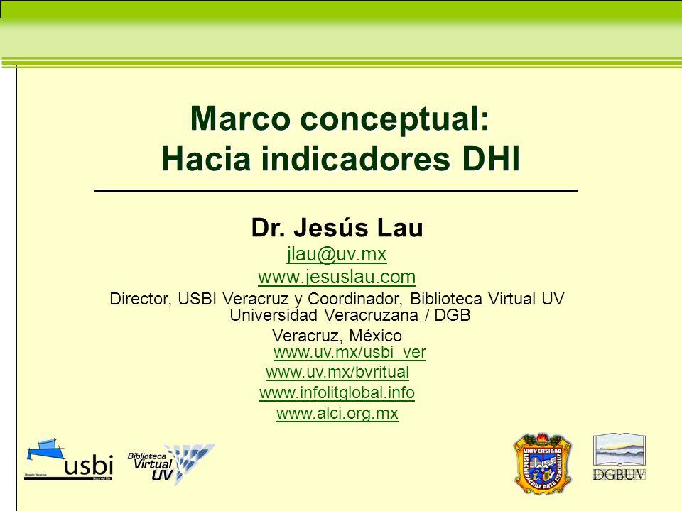 Marco conceptual: Hacia indicadores DHI