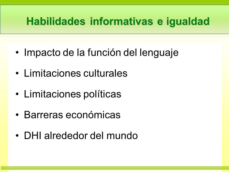 Habilidades informativas e igualdad