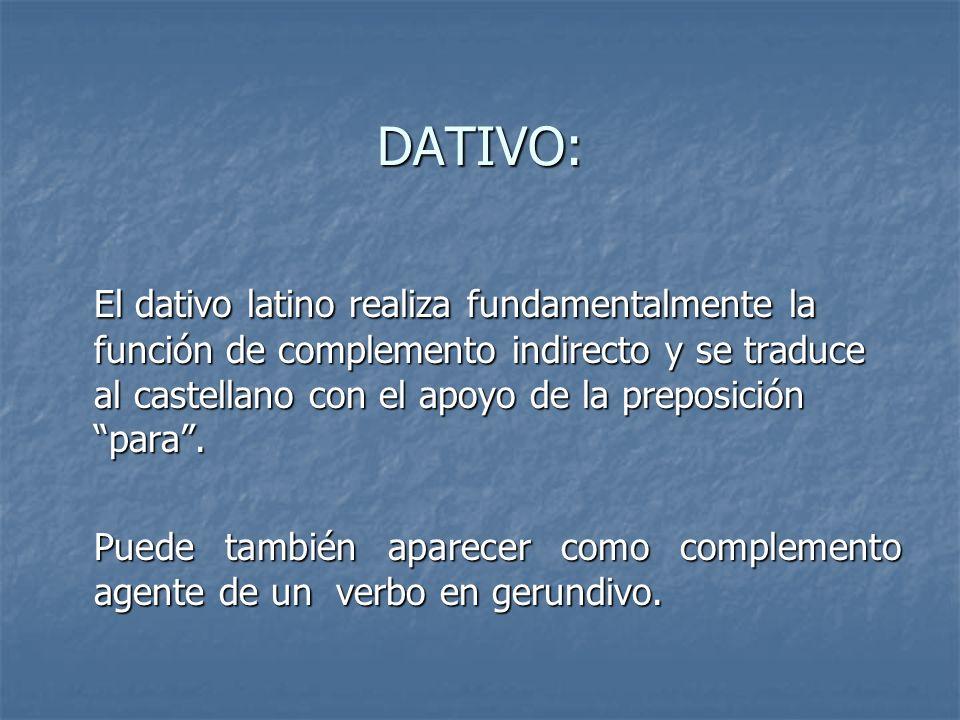 DATIVO: