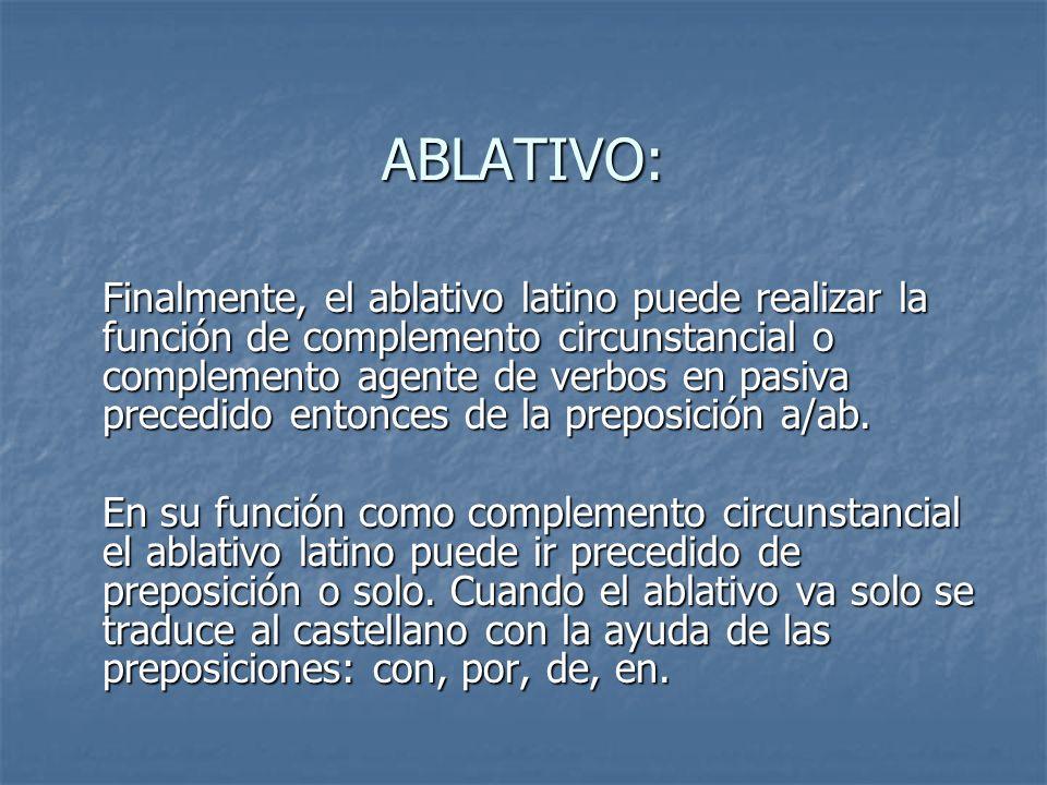 ABLATIVO: