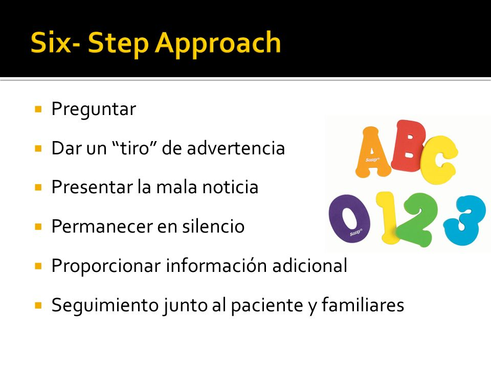 Six- Step Approach Preguntar Dar un tiro de advertencia