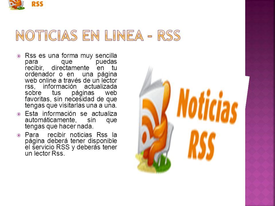 Noticias en linea - rss