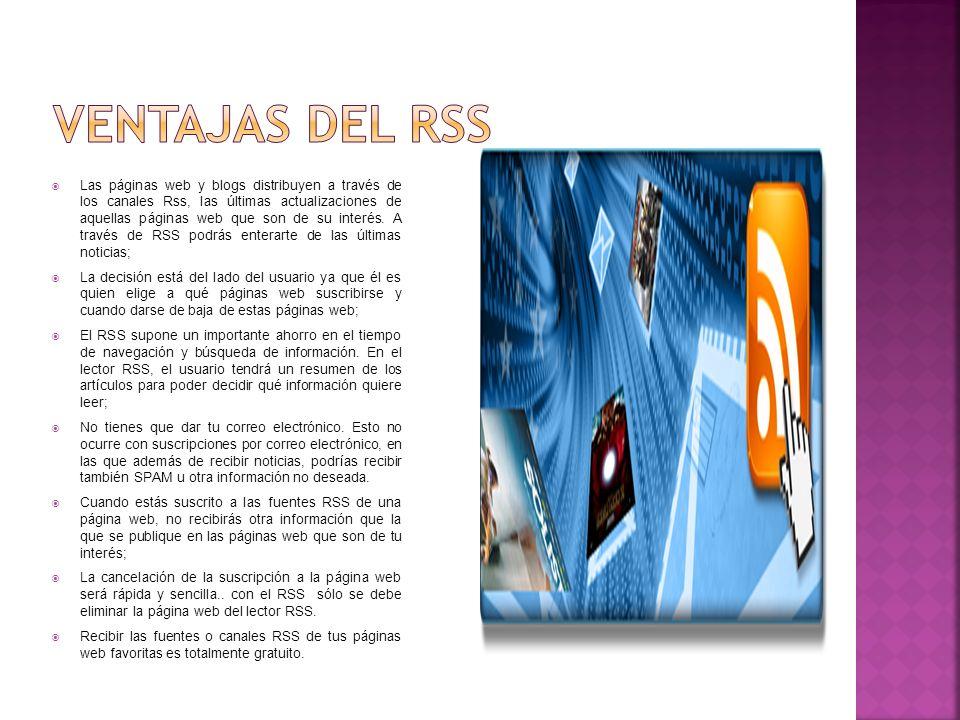 Ventajas del RSS