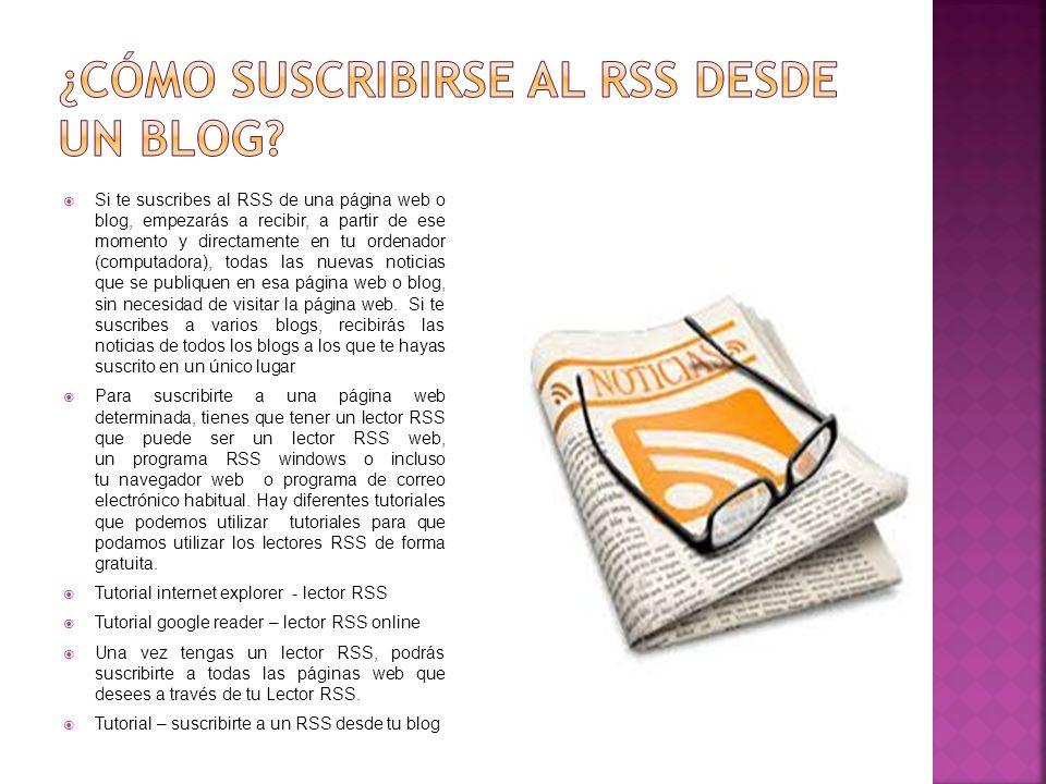 ¿cómo suscribirse al rss desde un blog