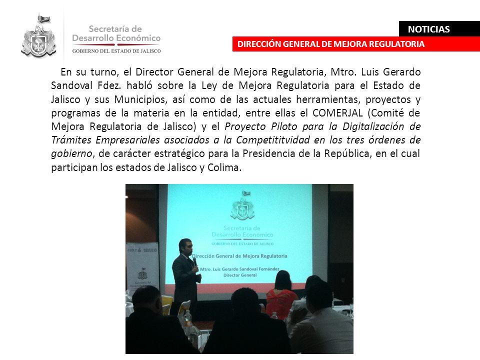 NOTICIAS DIRECCIÓN GENERAL DE MEJORA REGULATORIA.