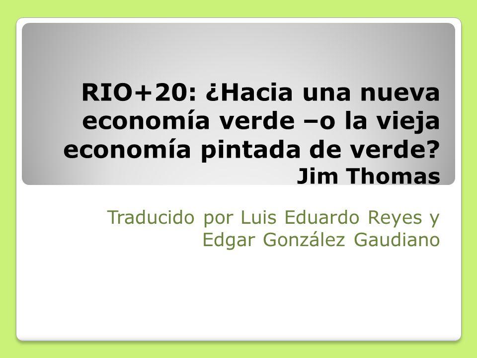 Traducido por Luis Eduardo Reyes y Edgar González Gaudiano