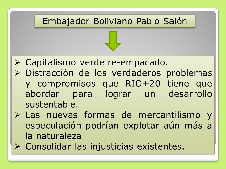 Embajador Boliviano Pablo Salón