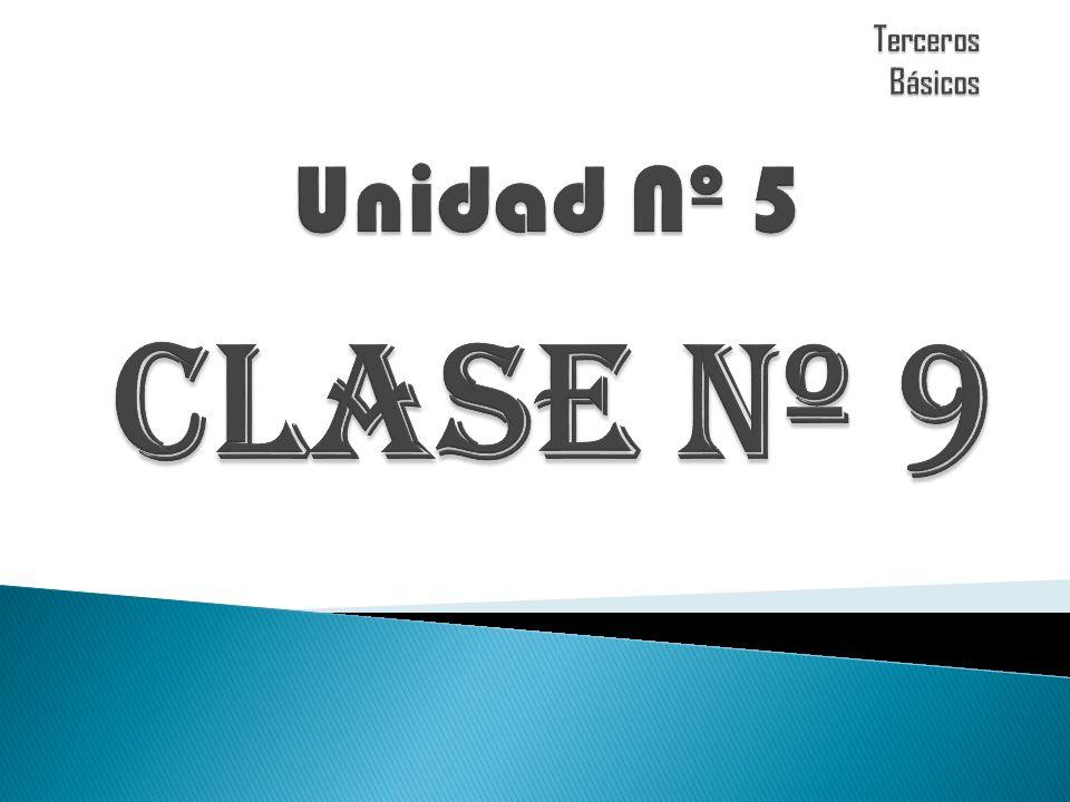 Terceros Básicos Unidad Nº 5 CLASE Nº 9