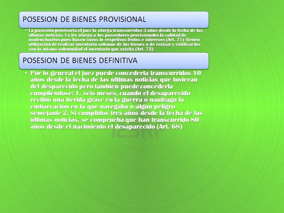 POSESION DE BIENES PROVISIONAL