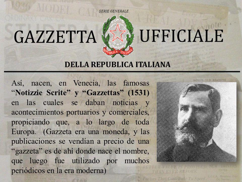 DELLA REPUBLICA ITALIANA