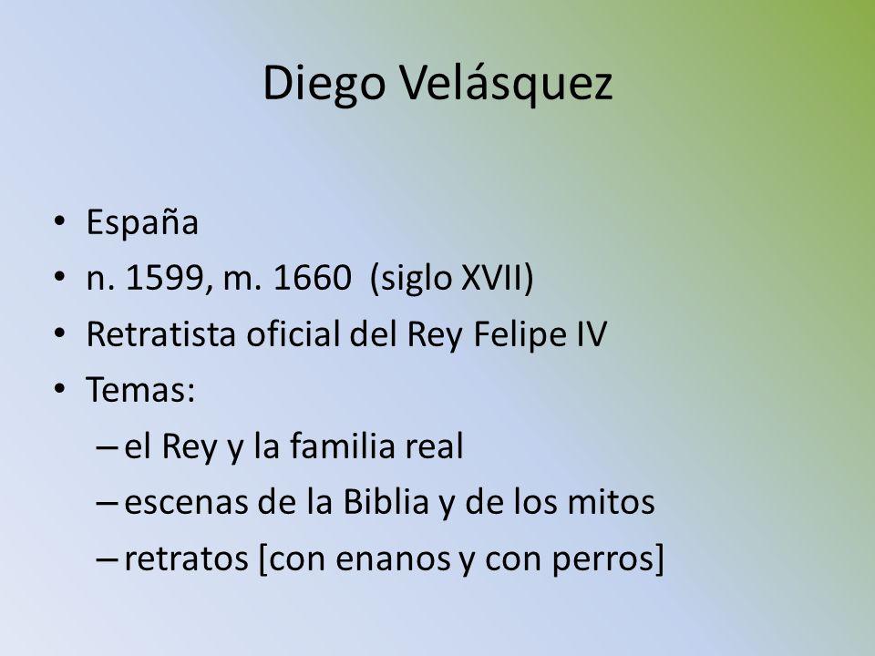 Diego Velásquez España n. 1599, m. 1660 (siglo XVII)