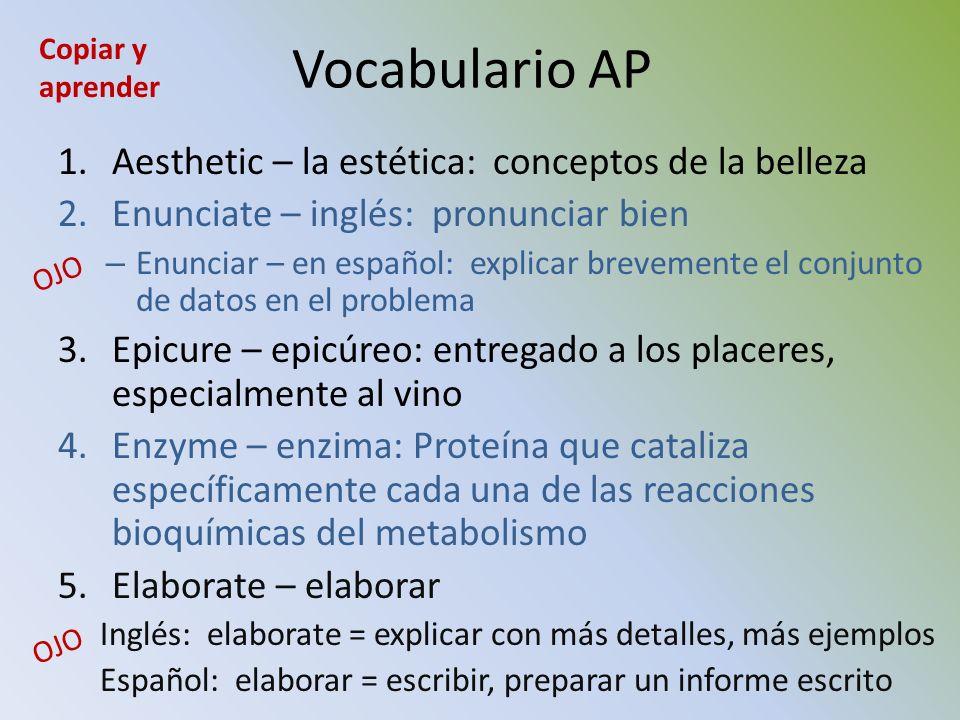 Vocabulario AP Aesthetic – la estética: conceptos de la belleza
