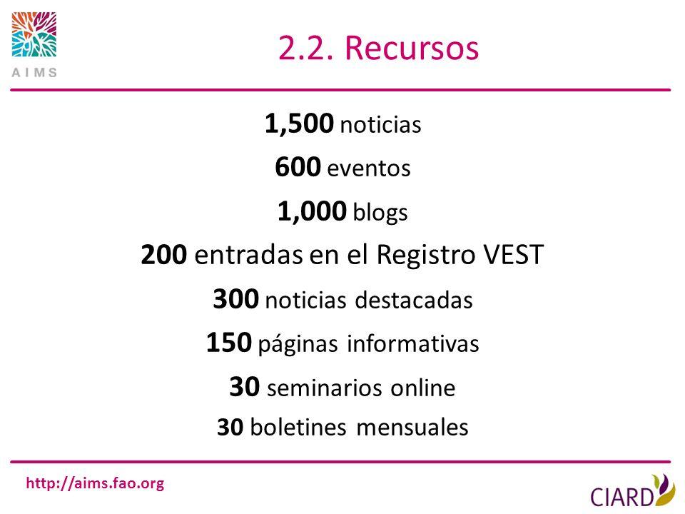 200 entradas en el Registro VEST