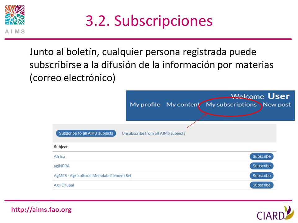 3.2. Subscripciones