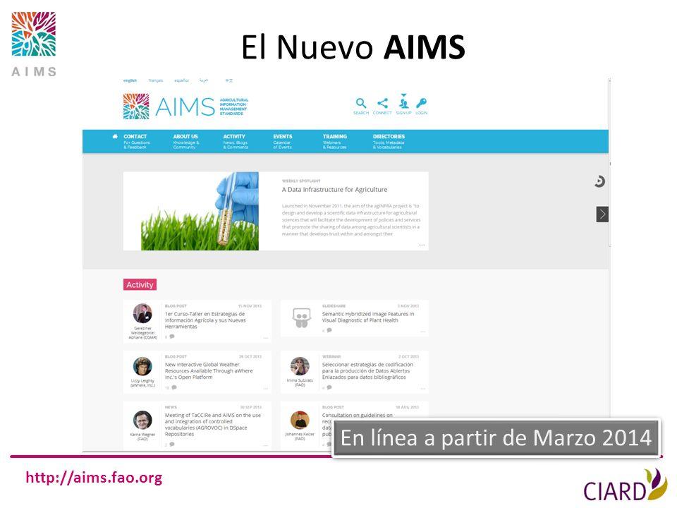 El Nuevo AIMS En línea a partir de Marzo 2014