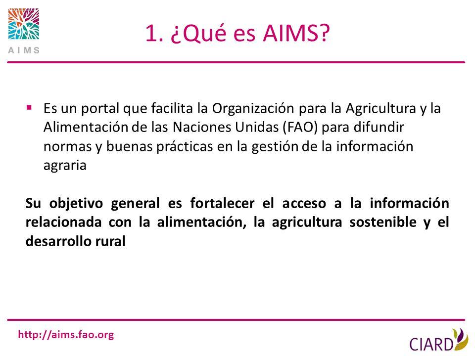 1. ¿Qué es AIMS
