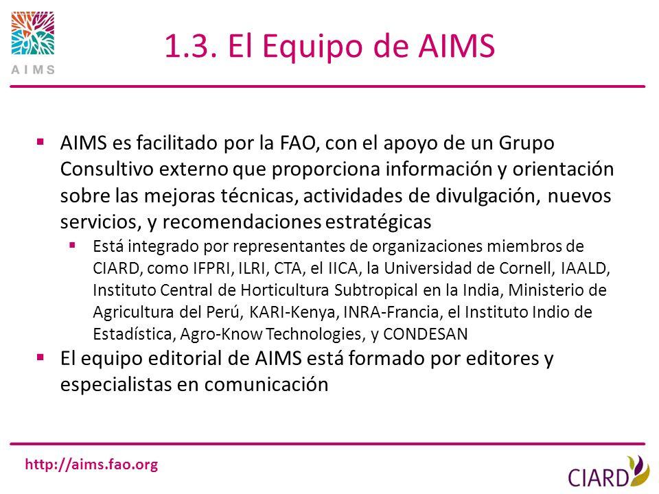 1.3. El Equipo de AIMS