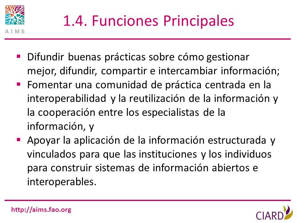 1.4. Funciones Principales