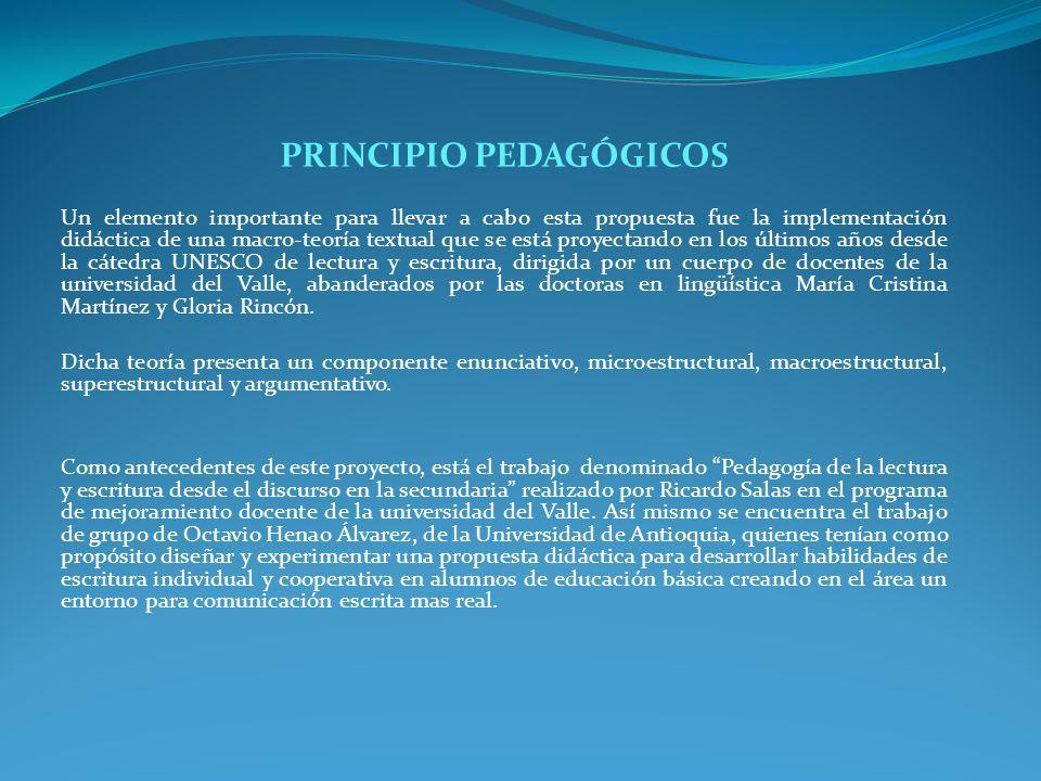 PRINCIPIO PEDAGÓGICOS