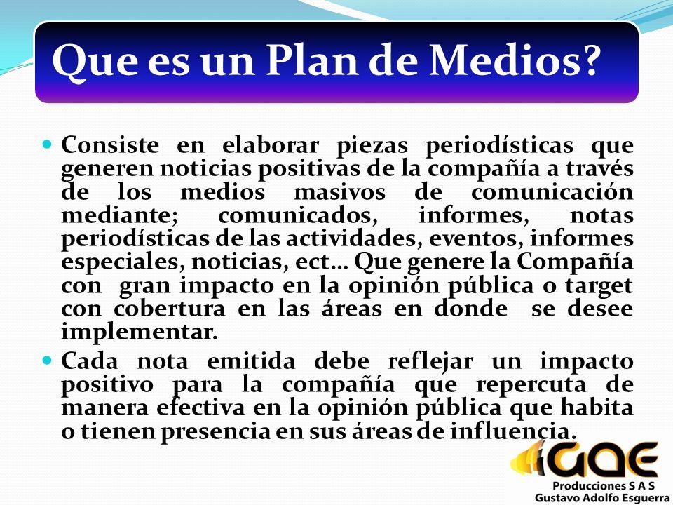 Que es un Plan de Medios