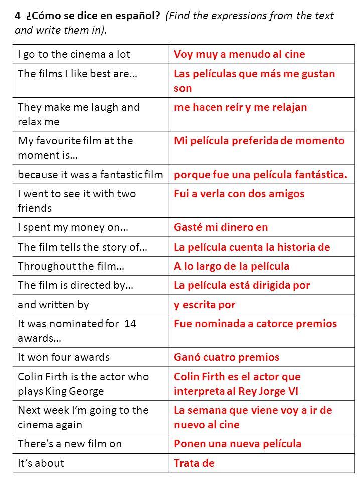 4 ¿Cómo se dice en español