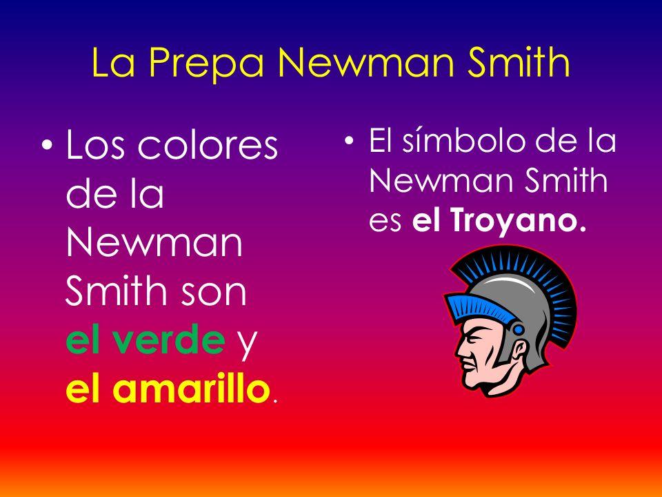 Los colores de la Newman Smith son el verde y el amarillo.