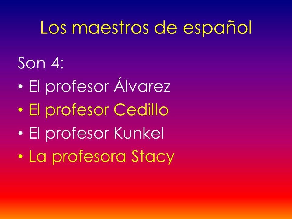 Los maestros de español