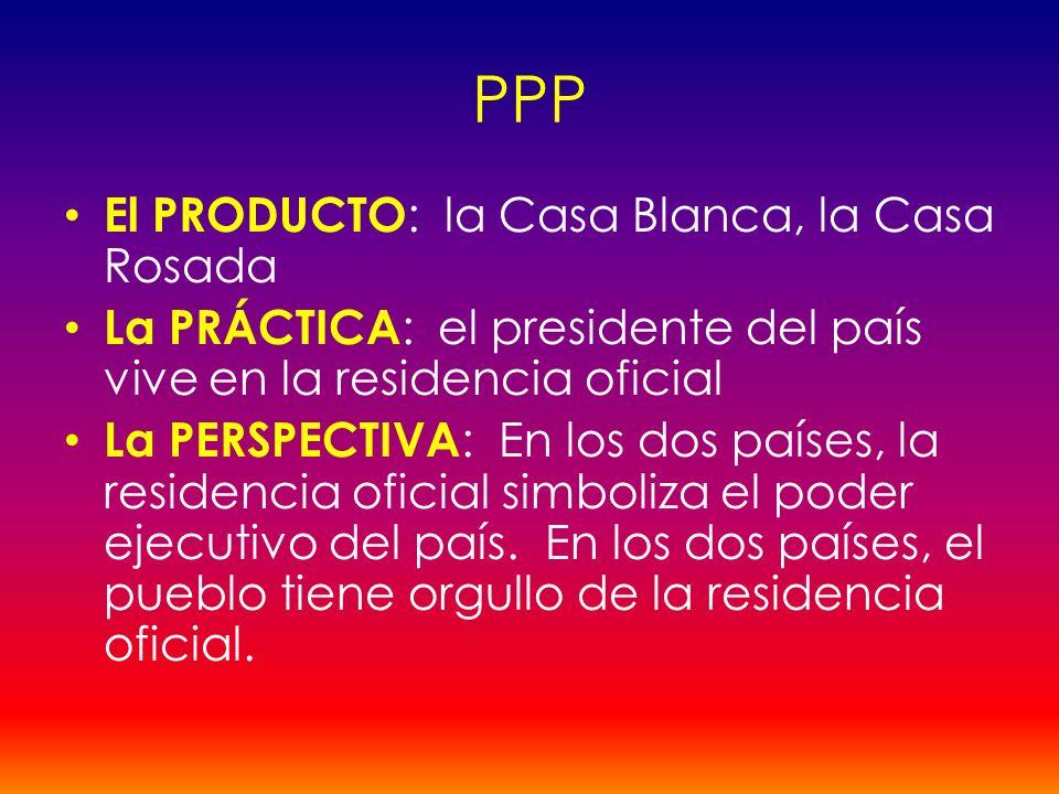 PPP El PRODUCTO: la Casa Blanca, la Casa Rosada