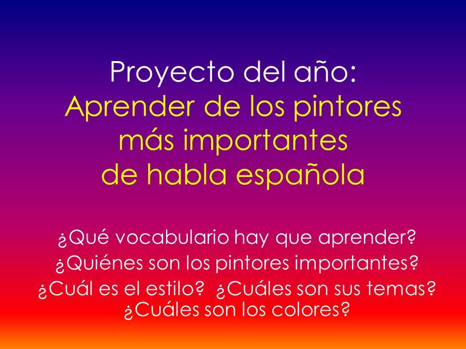 Proyecto del año: Aprender de los pintores más importantes de habla española